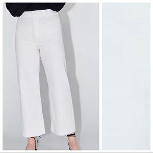 NWT. Zara ZW Premium Marine Straight Jeans Size 12